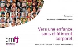 Intervention de la Défenseure des enfants lors de la conférence mondiale « Vers une enfance sans châtiment corporel »